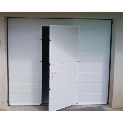 porte de garage sectionnelle motoris 233 e avec portillon