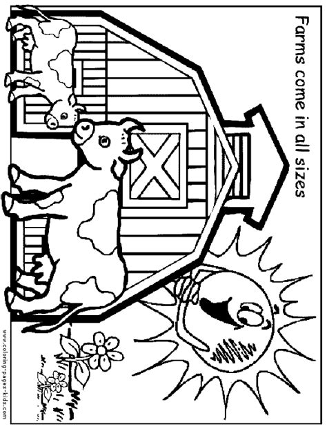 farm color page coloring pages for kids family people