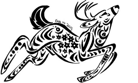 tribal christmas tribal deer design by deergear on deviantart