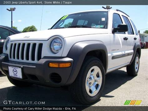 jeep liberty white 2003 white 2003 jeep liberty sport 4x4 taupe interior