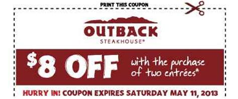 Outback Steakhouse Printable Gift Card - outback steakhouse coupons
