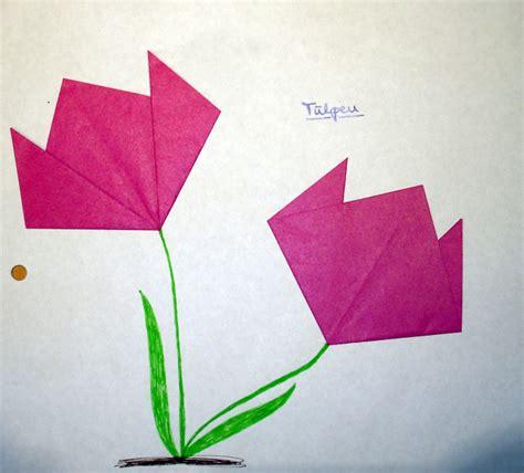 Blume Falten Kindergarten by Tulpen Falten Kinderspiele Welt De