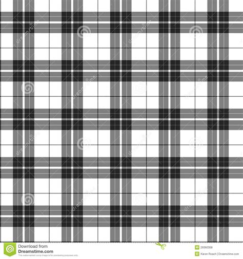 black and white tartan wallpaper white and black plaid fabric background stock illustration