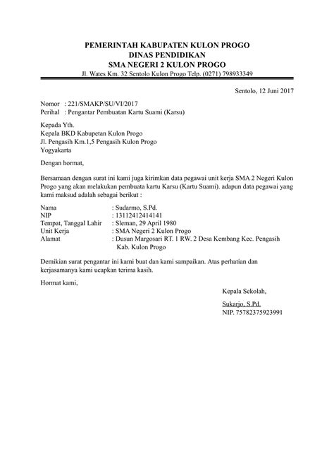 contoh surat pengantar dari kepala sekolah untuk berbagai urusan
