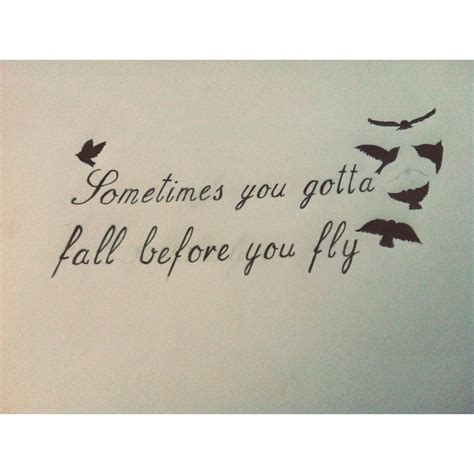 sometimes you gotta fall before you fly tattoo sometimes you ve gotta fall before you fly by
