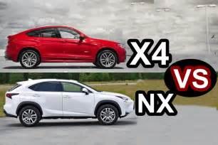 lexus rx vs bmw x3 2016 2016 lexus nx vs 2016 bmw x4 design youtube