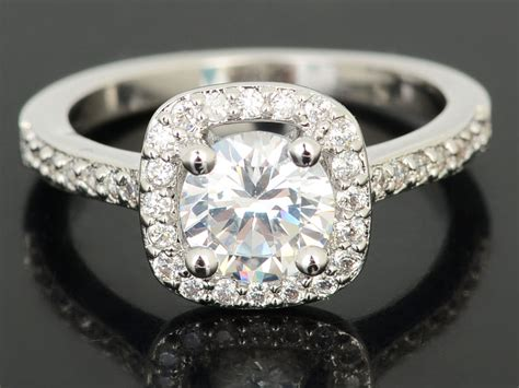 18k white gold plated wedding engagement