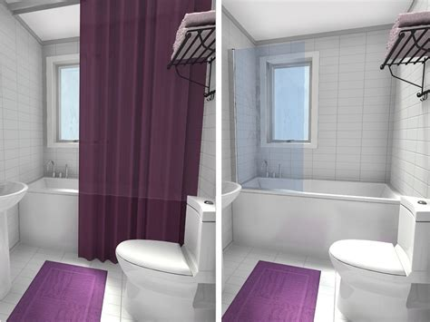 small bathroom shower curtain ideas 10 small bathroom ideas that work roomsketcher blog