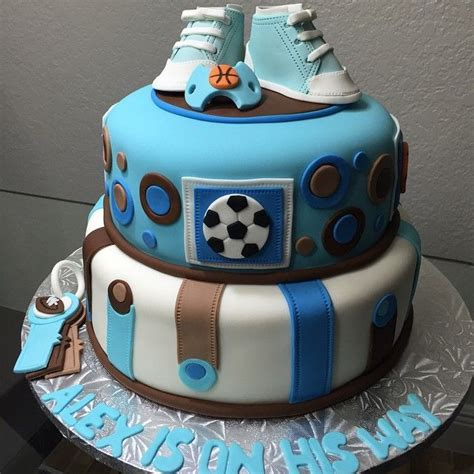 Sports Themed Baby Shower Cakes by 39 Best Baby Shower Cakes For A Baby Boy Images On