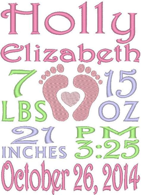 embroidery design birth announcement this is a great embroidery design and comes in the exact