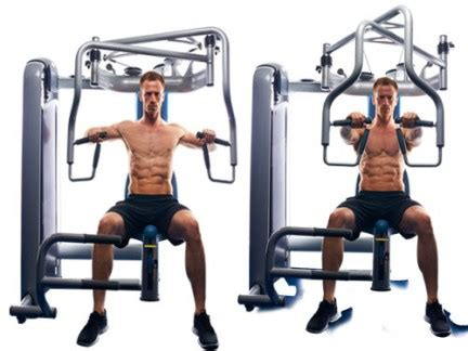 seated machine bench press build muscle gym