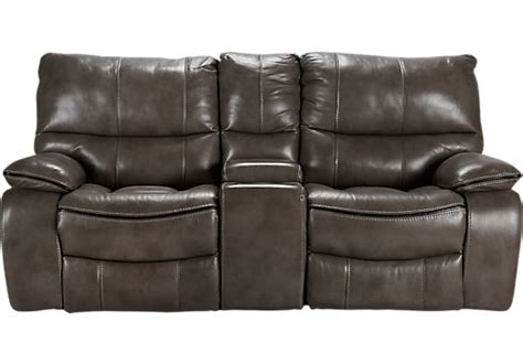 cindy crawford loveseat cindy crawford home gianna gray leather reclining console
