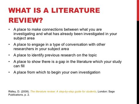 A Place Rating What Is A Literature Review