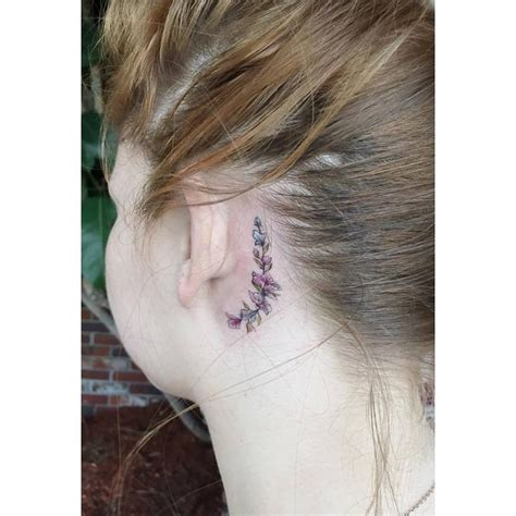 does a tattoo behind ear hurt 70 best behind the ear tattoos for women tattoo inner
