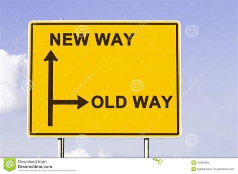 way way the new old way stock photo image 45980993