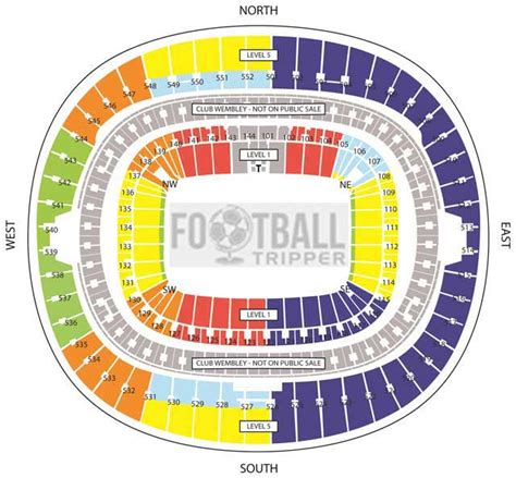 tottenham wembley seating plan away fans wembley stadium national team football tripper