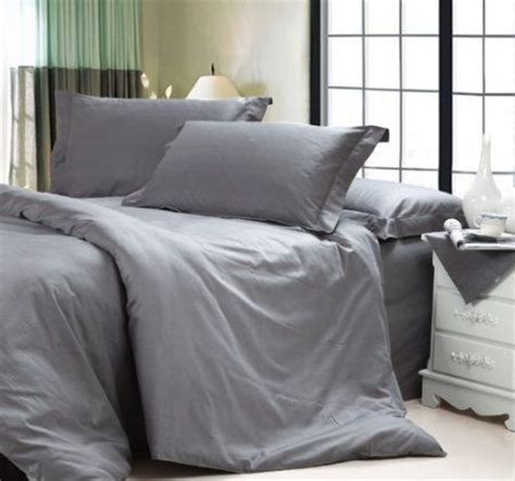 diaidi solid dark grey bedding sets luxury grey