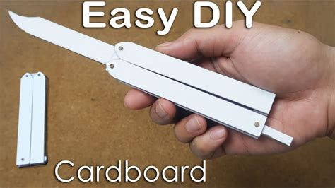 How To Make Butterfly Knife From Cardboard For Practicing Tricks Easy Tutorial Youtube Butterfly Knife Template