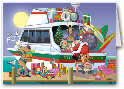 boat party clipart bergs on great escape merry christmas dock xmas party
