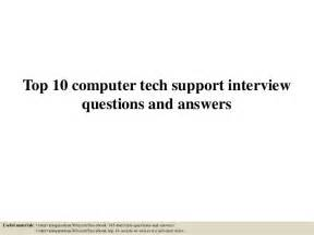 top 10 computer tech support questions and answers
