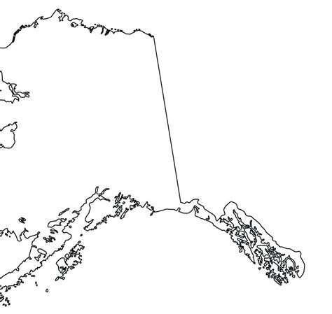 outline map of us with alaska and hawaii best images on designs map