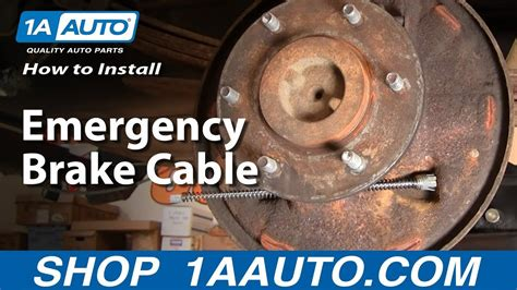 install replace emergency brake cable aautocom