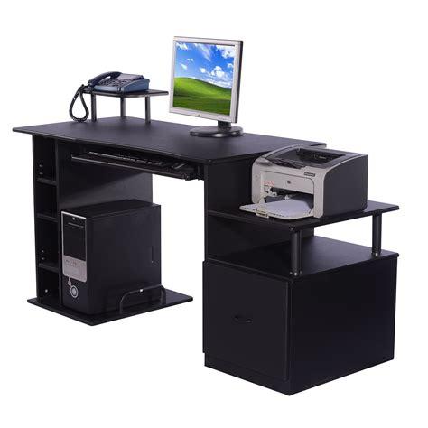 mesas de escritorio de madera homcom mesa de ordenador escritorio para oficina color