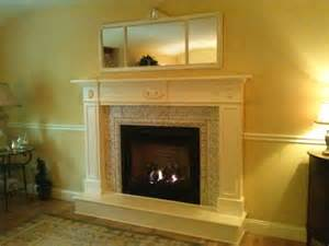 Surround and custom designed painted mantel with hearth extention