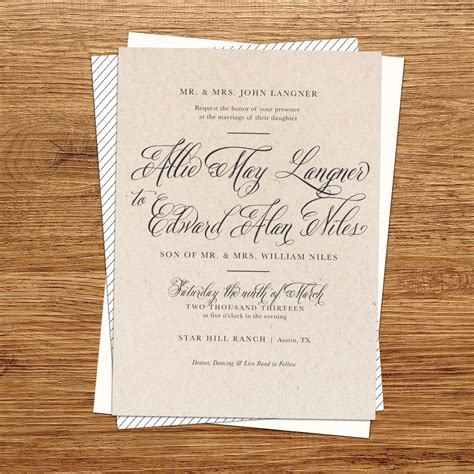 diy rustic wedding invitations template best template