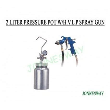 Tank Lancip 6 Jonnesway by Price Jonnesway Ja 6129 2 Liter Pressure Pot W Hvlp Spray Gun