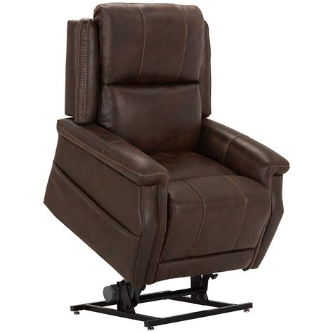 lifting recliner city furniture jude dk brown microfiber power lift recliner