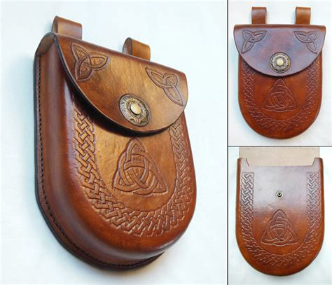 leather pounch moulded leather pouch by syrech on deviantart