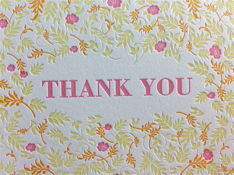 Thank You Gift Card - fall floral letterpress thank you cards dolce press