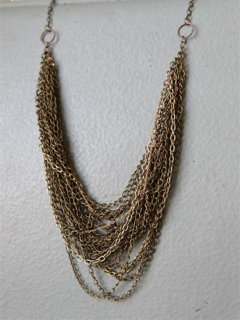 brass chain for jewelry layered chain necklace in antique brass a common thread
