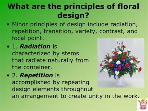 design elements radiation introduction to floral design
