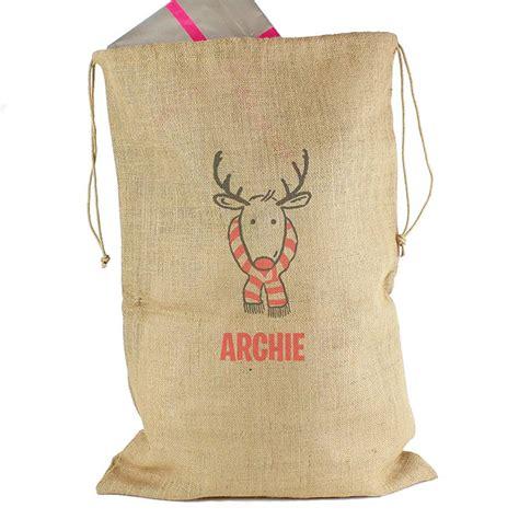 personalised large reindeer christmas sack by sassy bloom
