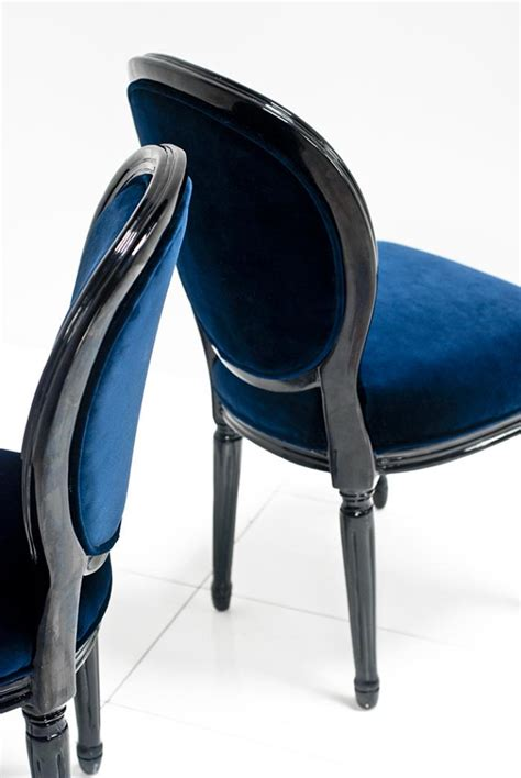 Louis Navy By Rhavi Store www roomservicestore louis dining chair in navy and