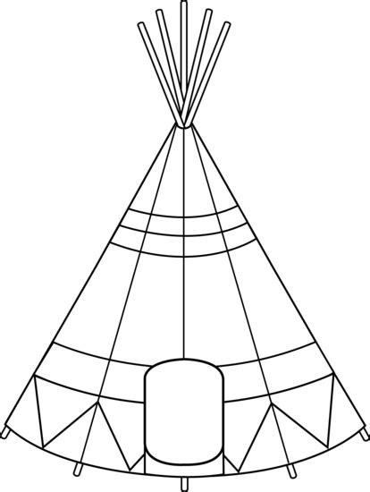 free coloring pages of teepee