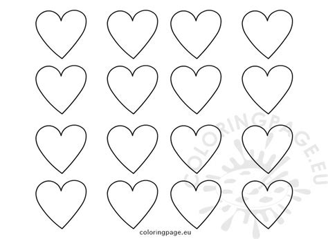 heart template coloring page set printable heart templates coloring page