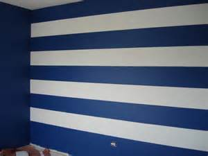 blue striped walls dg style striped wall