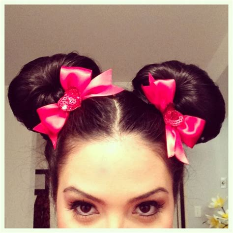 diy races hairstyles video minnie mouse diy hair ears not buns tutorial http
