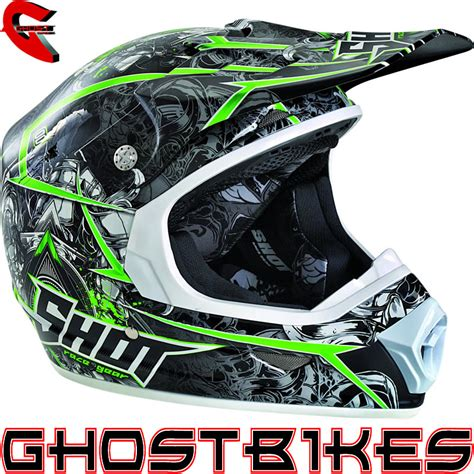 green motocross helmet shot furious lord motocross helmet quad off road racing