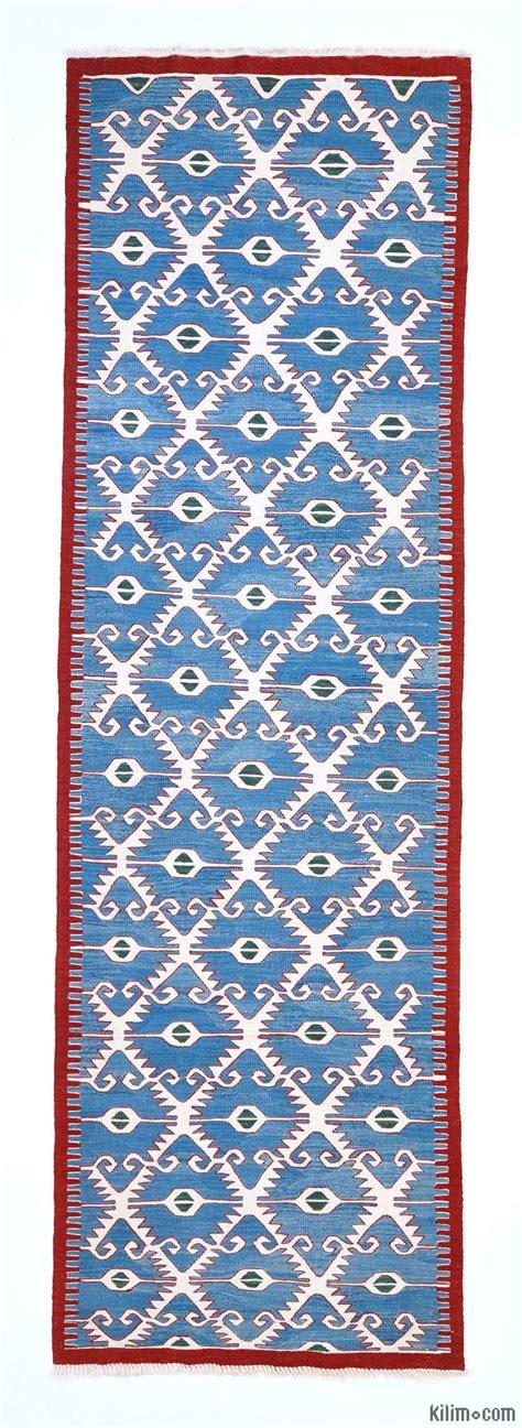 blue kilim rug k0004677 blue light blue new turkish kilim runner rug