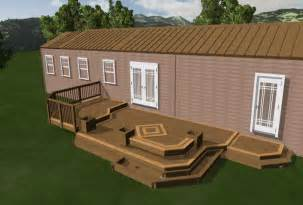 mobile home deck designs wooden home