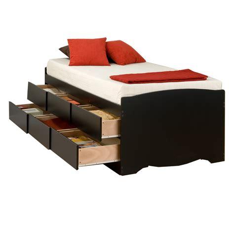 Captain S Storage Platform Bed Black Platform Storage Bed