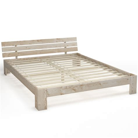 slatted bed frame wooden double bed 160x200 cm solid wood bed frame incl