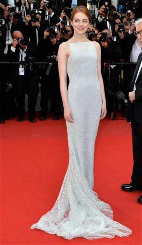 emma stone red carpet dresses a commentary on cannes film festival 2015 fashion black