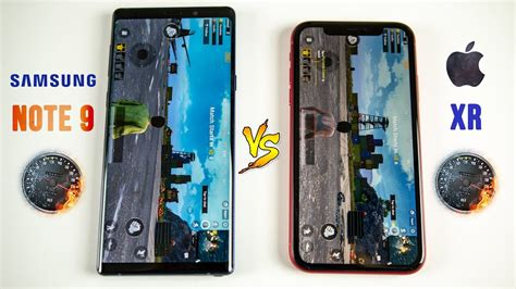 iphone xr vs galaxy note 9 speed test this was