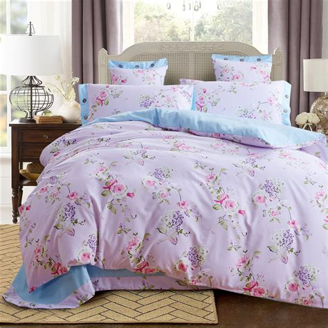 Pale Turquoise Home Textiles Cheap Floral Bedding Set Cheap Bedding Sets For