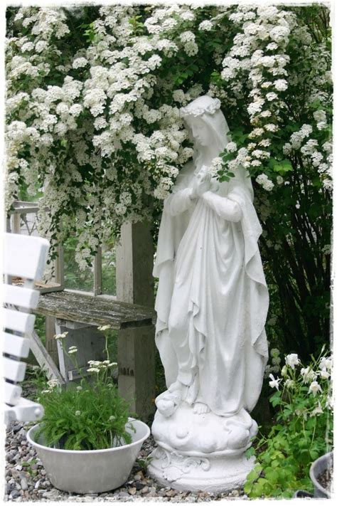 Blessed Mother Outdoor Statues Beautiful Blessed Mother Flower Garden Statues